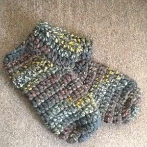 free slipper socks crochet pattern