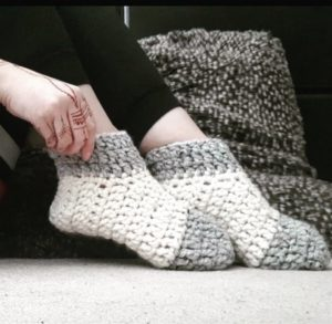 Warmest Feet Ever Slipper Socks with contrasting toes and heels