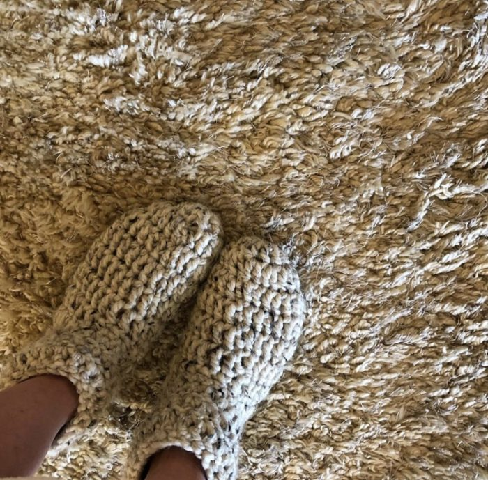 Warmest Feet Ever Slipper Socks Pattern pic