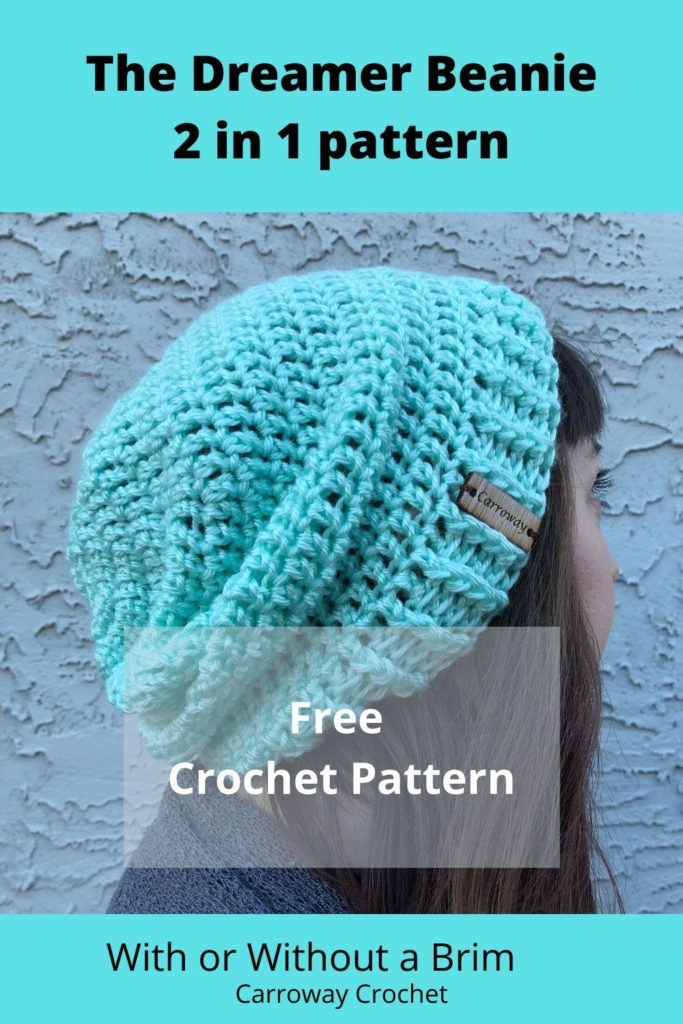 Free crochet pattern for a slouchy beanie