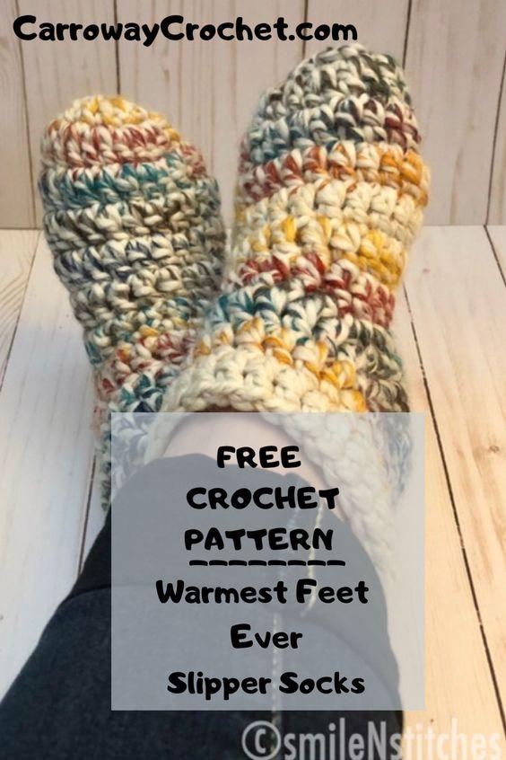 free slipper socks pattern