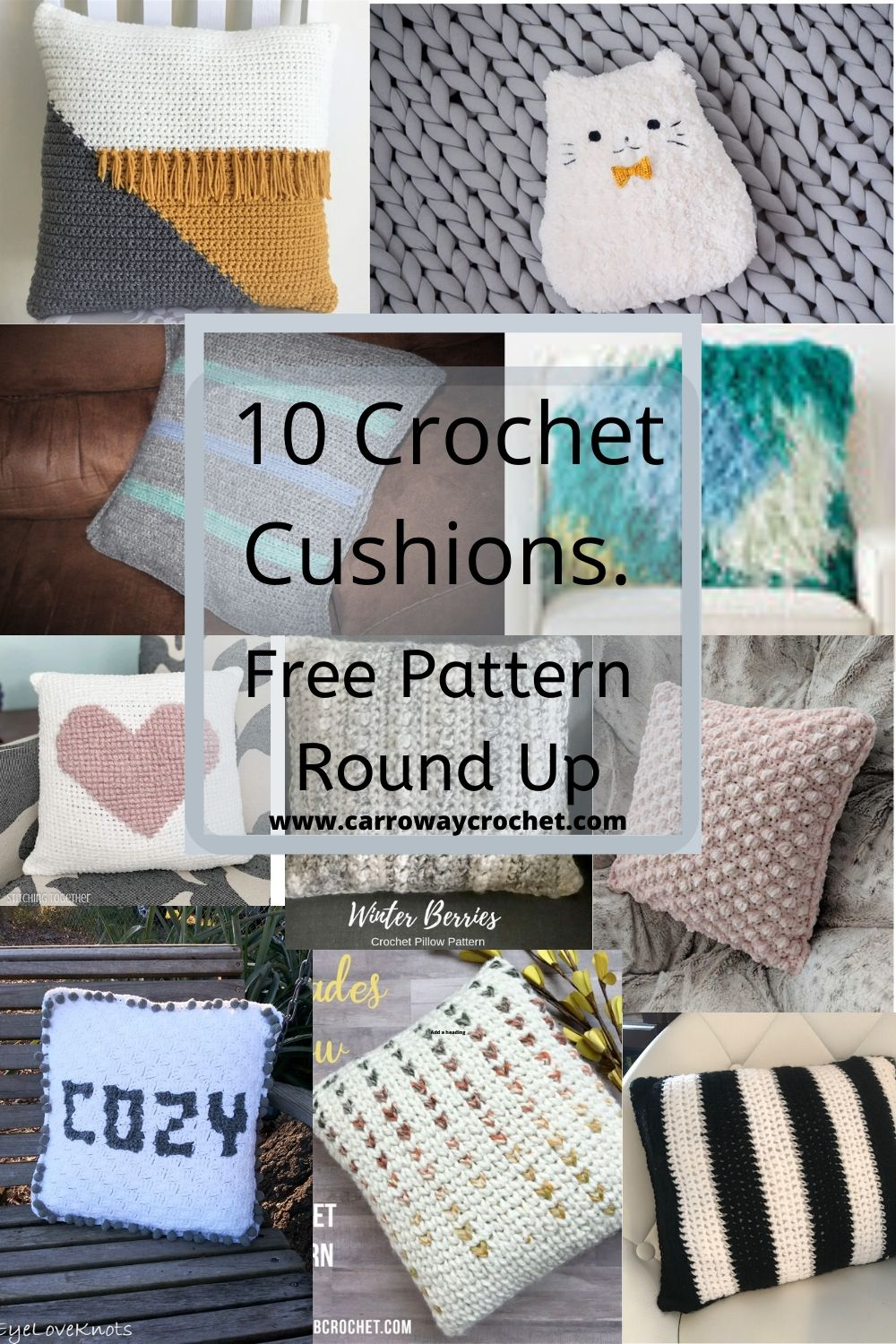 Ten Crochet Cushions A Free Pattern Round Up Carroway Crochet Ten Crochet Cushions Free Pattern Round Up Beautiful Home Decor Cushions And Pillows Use These Free Patterns To Brighten Your Home
